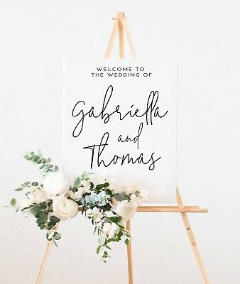 A3 Personalised Portrait 'Gabriella' Welcome Wedding sign