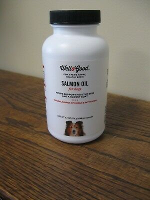 New! Well&Good Salmon Oil For Dogs - Supports Healthy Skin & Coat 120 Gel Caps