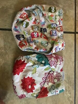 19 Cloth diapers, multiple brands and colors, gently Love, great elastic!