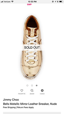 jimmy choo sneakers 35.5 new without box