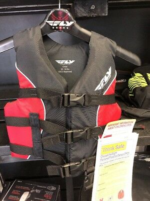 Fly Racing Boat PWC Pool Lake 30-50lbs Child Life Vest Flotation Device NEW