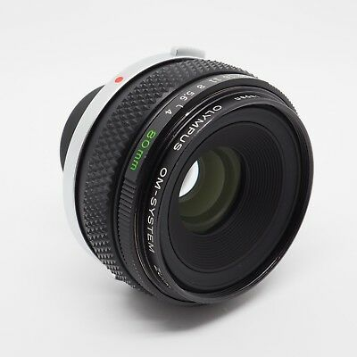 Olympus OM Zuiko 80mm F4 Auto-1:1 Macro Prime lens With Case - Immaculate