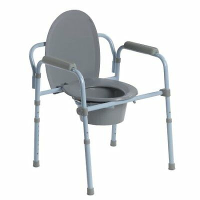 Drive Medical Steel Folding Frame Commode