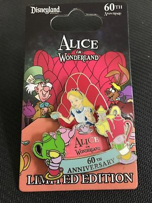 Disney Parks Disneyland Alice in Wonderland 60th Anniversary Pin LE 2000