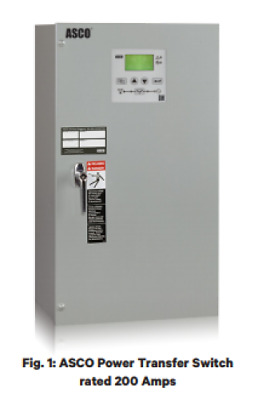 ASCO Series 300, Standard Open Transition, 2 Pole, Solid Neutral, 240V, 600 Amp