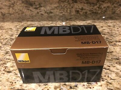 BRAND NEW Nikon MB-D17 Multi-Power Battery Pack for D500 DLSR in Original Box