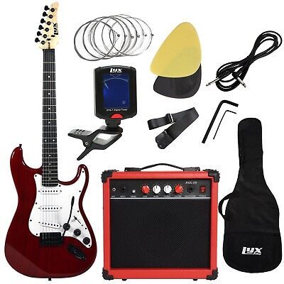 LyxPro Electric Guitar with 20w Amp, Package Includes All Accessories, Digital