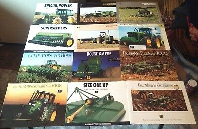 12 John Deere Tractor + Equipment Brochures Brochure Lot Drill  Baler Hoes 6000