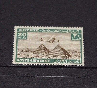 Egypt 1933 20M Olive Air Issue   Fine Mint  M//n/h