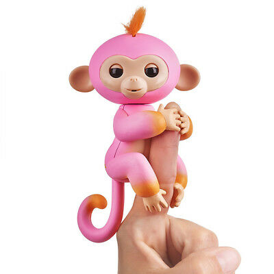 Fingerlings Interactive Two 2-Tone Monkey SUMMER Pink & Orange AUTHENTIC WowWee