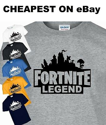Fortnite Legend Dogtag Funny T Shirt Top Gaming Gamer Tee Xbox PS4 Kids Gift