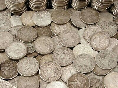 Antique Iconic US Morgan Silver Dollar Coin Lot - 1 Old Coin from 1878 to 1921.