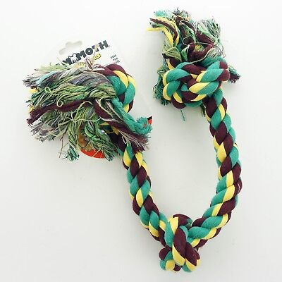 Mammoth Flossy Chews Cottonblend 3-Knot Rope Tug, Large 25-Inch (gr/mro/yl)