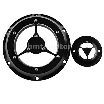 BQuazy Derby Cover Black Two Tone for 2004-2019 Sportster Models