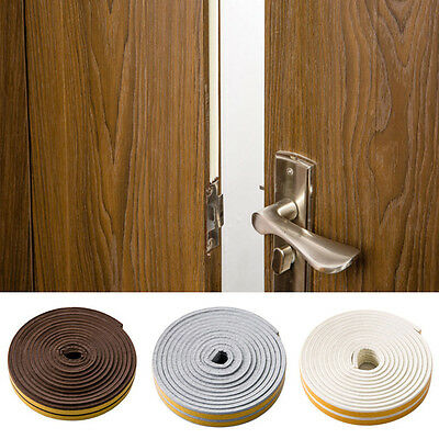 5M Door Window Foam Sticky Tape Weather Strip Seal Noise Insulation Hardware Acc & 4 COLORS Self Adhesive Weatherstrip D Shape House Door Seal Rubber ...