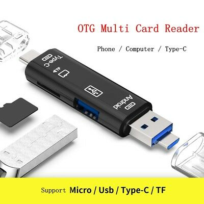 Micro SD USB TF OTG to USB 2.0 Adapter Card Reader For Android IOS Tablet PC New