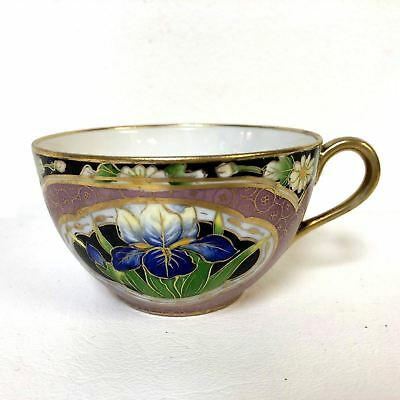 Beautiful Hand Painted Nippon Tea Cup Pink Gold Flower Decoration