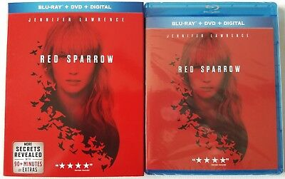 New Red Sparrow Blu Ray + Dvd 2 Disc Set & Slipcover Sleeve Free World Shipping