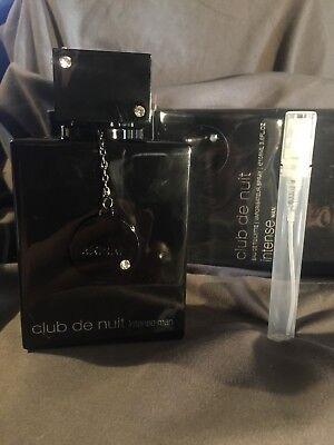 Club de Nuit Intense by Armaf EDT for Man 5ML DECANT  Cologne SAMPLE