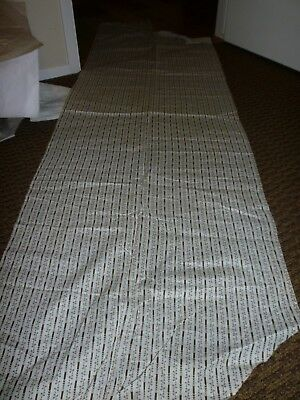 Antique Shirting Fabric **brown Stripe With Leaf**