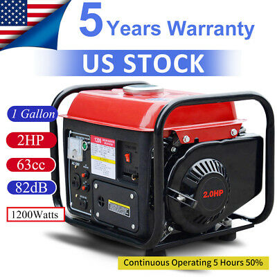 Portable Gas Generator 1200W Emergency Home Back Up Power Camping Tailgating EPA