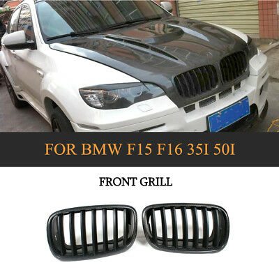 Carbon Fiber Front Kidney Grill Grille Factory For BMW X5 X6 F15 F16 2014-2017