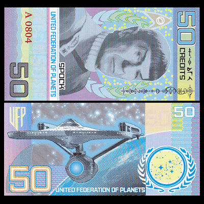 United Federation of Planets, 50 Credits, private issue Hybrid Polymer, 2017 UNC