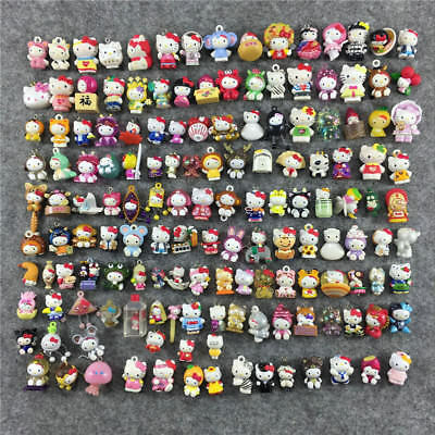 100pcs Cute Hello Kitty Figures Different Anime Collection Toy Kids Gift 2-3CM