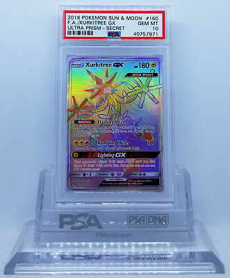 PALKIA GX RAINBOW RARE 165//156 SECRET RARE HYPER RARE SM ULTRA PRISM NEAR MINT