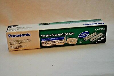 Panasonic Genuine Fax Ink Film 2-Rolls KX-FA92 (114ft x 2) new in box