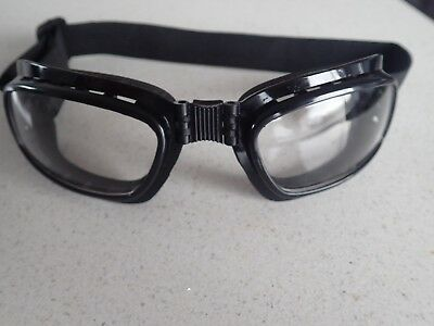 Vintage Aviator Goggles Steampunk Cafe Racer, Harley Davidson Motorcycle Clear