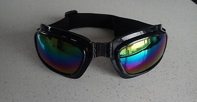 Vintage Aviator Goggles Steampunk Cafe Racer, Harley Davidson Motorcycle Multi