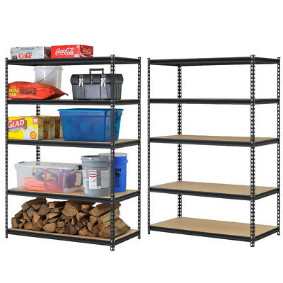 1 Garage Shelving Racking Heavy Duty Steel Boltless Warehouse Unit 5 Tier