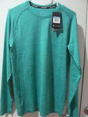 346678ab8 Mens Nike Dri Fit Knit Running Long Sleeve Shirt 833565 483 Size S~Xl