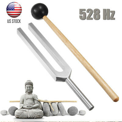 528Hz Fork+Mallet Medical Chakra Hammer Sound Healing Therapy Diagnostic Tuning