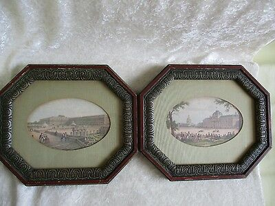 Pair of Framed Antique Isadore Laurent Deroy Colored Lithograph Prints