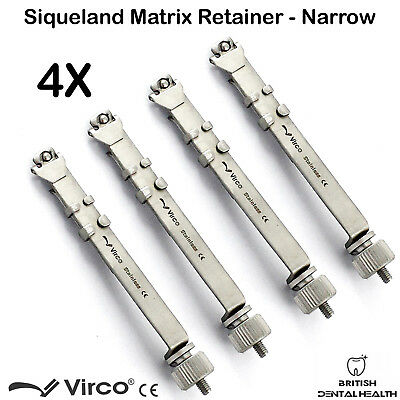 4X Matrix Retainers Squiveland Slim Narrow Dental Orthodontic Siqueland Ortho CE