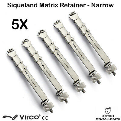 5X Matrix Retainers Squiveland Slim Narrow Dental Orthodontic Siqueland Ortho CE