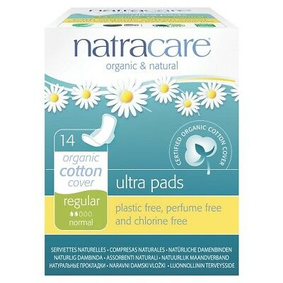 NATRACARE - Natural Feminine Ultra Pads Regular with Wings - 14 Pads
