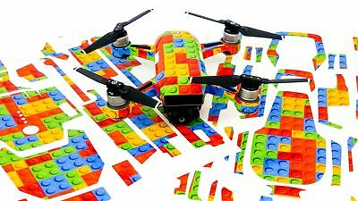 Lego Bricks Drone Decal Skin Wrap Stickers for DJI Spark, Mavic Air, Mavic Pro