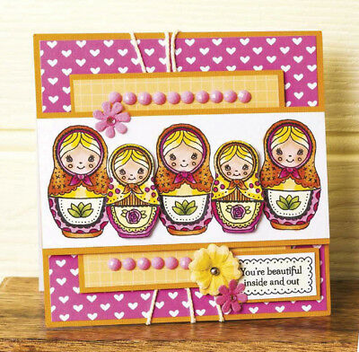 Russian doll Cutting Dies Clear Stamp DIY Scrapbook Embossing Paper Card Craft