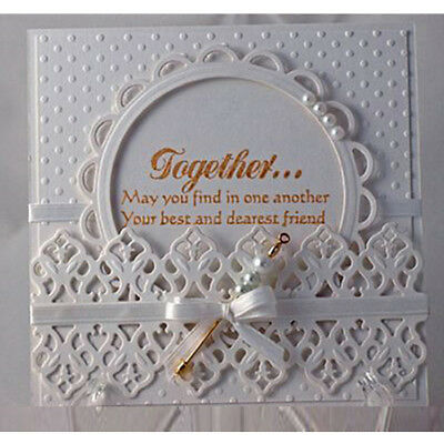 Round Lace Cutting Dies Clear Stamp DIY Scrapbooking Embossing Album Card Craft