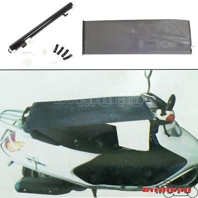 Dirt Bike Motors Black Sunshade Mounting Kits UV Protection Automatic Rolling