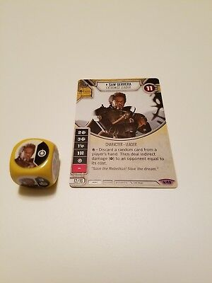 Star Wars Destiny Legacies Set Saw Gerrera #49 Legendary w// Premium Die