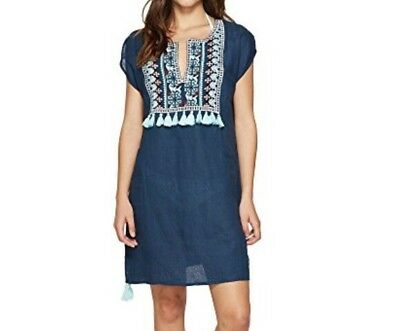 5dc27aa9a0f3b Anthropologie Seafolly Tunic Kaftan Beach Swimsuit Coverup Tassel Small $168