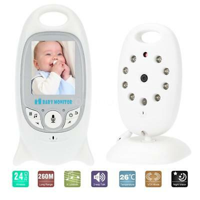 Wireless 2.4GHz 8IR LED 2-Way Talk LCD Baby Monitor Temperature Monitor VOX S0Q3