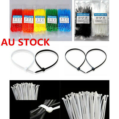 "AU 100pcs 6.6"" Winged Nylon Plastic Cable Zip Ties Cord Wrap Wire Strap CG"