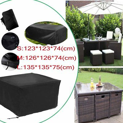 Garden Patio Furniture Set Cover Waterproof Rattan Table Cube Outdoor Covers UK