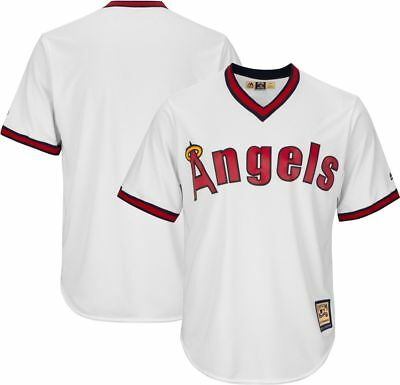Majestic Mens MLB Anaheim Angels Cooperstown Cool Base Replica Baseball Jersey
