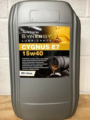 Synergy Cygnus 15W-40 SHPD E5/E7 MIXED FLEET ENGINE OIL x 20 litres